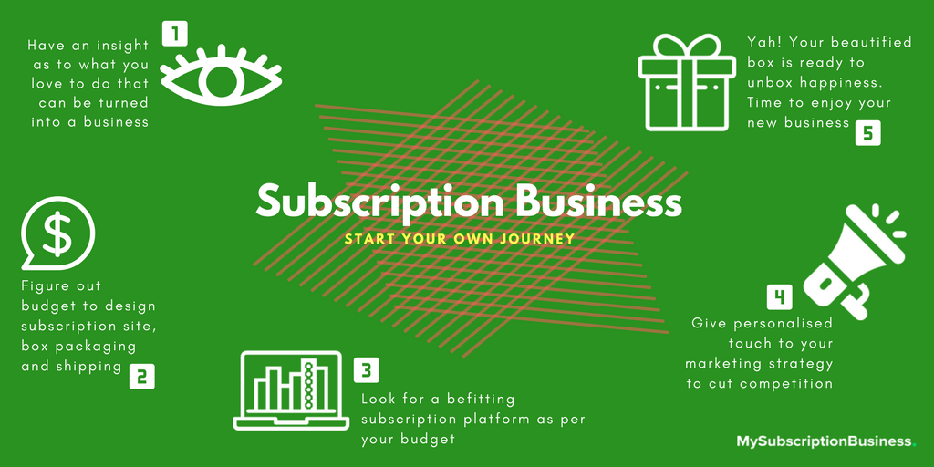 Subscription Box Business for Women Infographic